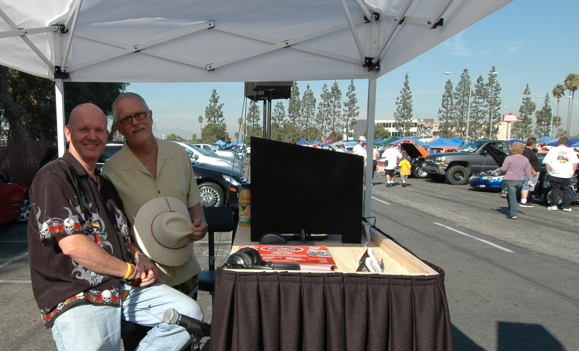 Art the DJ and Larry Beck at Buena Park car show